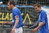 Jan Procházka a Jiří Kabele // SK Kladno - FK Baník Most  5:3 (2:1)  , utkání 22.k. 2. ligy 2010/11, hráno 17.4.2011
