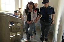K soudu dorazila pětice obžalovaných v doprovodu eskorty. Hlavní roli v celé skupině hrály dvě ženy.