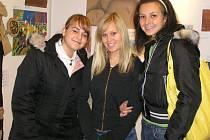 Výstavu navštívily  také studentky třídy V3 Střední odborné školy a Středního odborného učiliště Kladno, náměstí E. Beneše.  A líbila se jim.