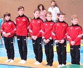Mladší žáci Sokola Kladno patří do české špičky. Zleva jsou: Karel Knop, Aziz Hammadi, Stanislav Procházka, Jakub Smolík, Tadeáš Trousil a  Jan Kusák.