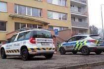 Policejní hlídky pouštěly v neděli do paneláku v Americké ulici obyvatele do bytů, aby si zde vyzvedli osobní věci.