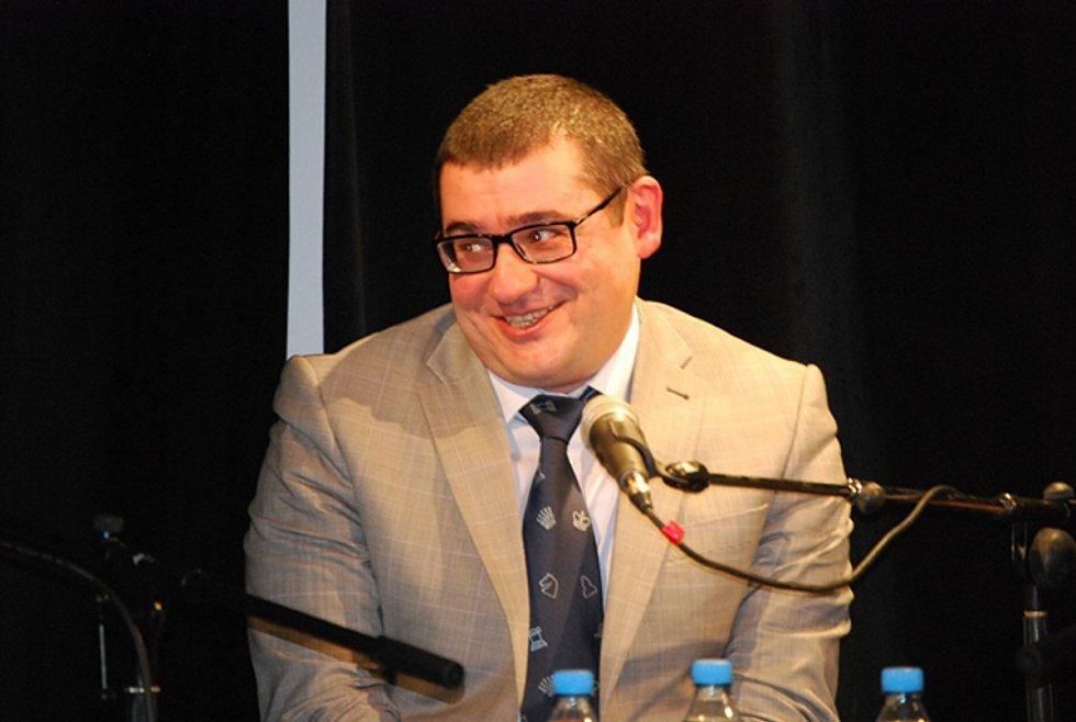 Posledními hosty této sezóny byli velmi úspěšní šachisté David Navara a Sergej Movsesjan.