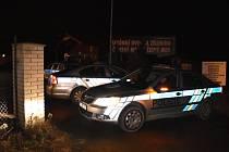 Policejní zásah ve středu 3. února na čerpací stanici ve Slaném-Kvíci Na Čubě