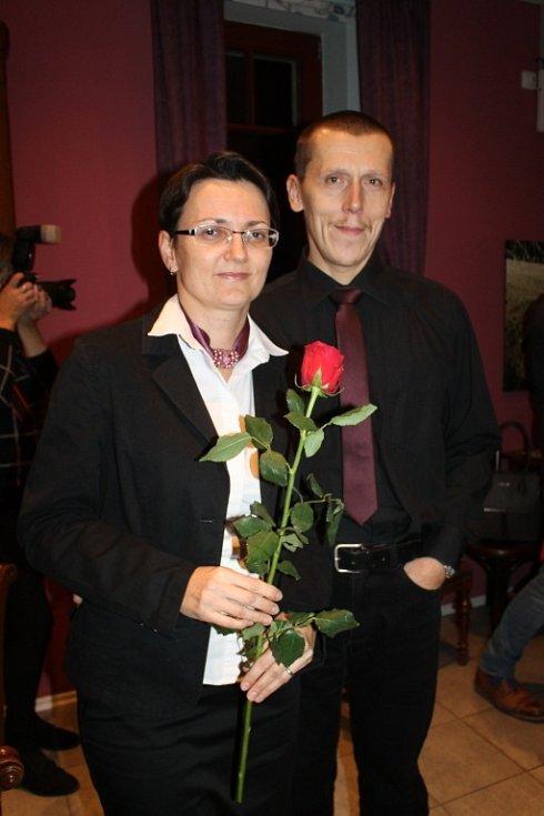 Vernisáž výstavy Tomáše Záborce v Kavárně V Ráji ve Slaném