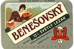 Pivní etiketa dvanáctistupňového ležáku v 80. letech minulého století.