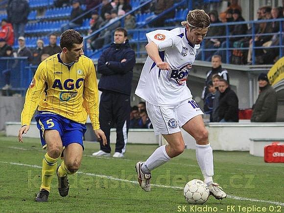 Admir Ljevakovič doráží na kladenského Tomáše Cigánka