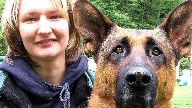 Soutěž psí krásy oslovila i Lenku Silberovou s německým ovčákem Grifem.