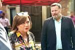 Ministryně financí Alena Schillerová přislíbila Slaňákům pomoc při hledání vhodných finanční titulů na podporu obnovy Benaru.