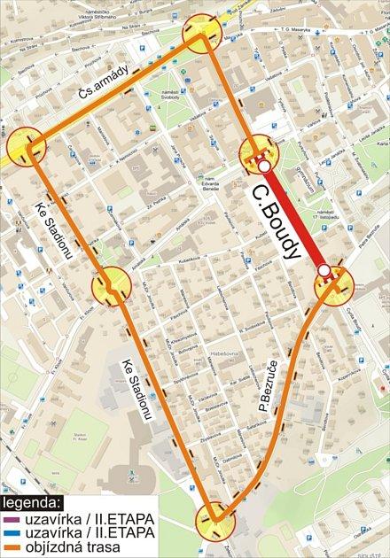 Rekonstrukce ulice Cyrila Boudy vKladně přispěje ke zvýšení bezpečnosti.