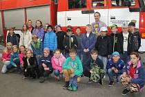 Smečenští páťáci ve Slaném u hasičů