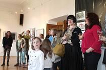 Výtvory talentovaných studentů jsou k vidění v Kladenském zámku.