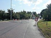 Uzavřená část Dlouhé ulice v Kladně.