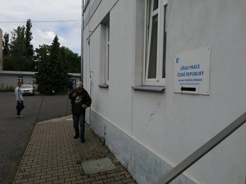 Úřad práce ve Slaném.