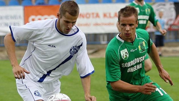 Jiří Kabele a Jakub Blažek //  SK Kladno - Banik Sokolov3:3 (2:0)  , utkání 29.k. 2. ligy 2010/11, hráno 4.6.2011