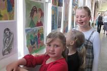 výstava dětských prací v MŠ ve Vítězné ulici ve Slaném.