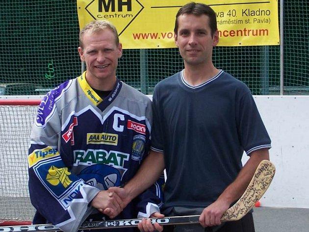 Josef Zajíc (vlevo) je největší letní posilou Slaného.