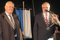 Prezident Miloš Zeman při své úterní návštěvě Kladna.
