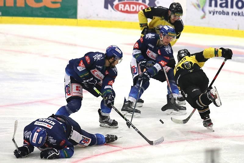 Chance liga: Kladno (v modrém) hostilo Sokolov.