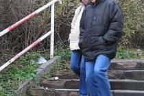 Nevyhovující schody u autobusového  nádraží by se v příštím roce měly dočkat opravy