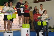 Dan Skrčený s Monikou Erbenovou (vpravo) získali na MČR bronzové medaile.