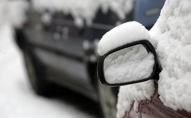 Sníh v Kladně.