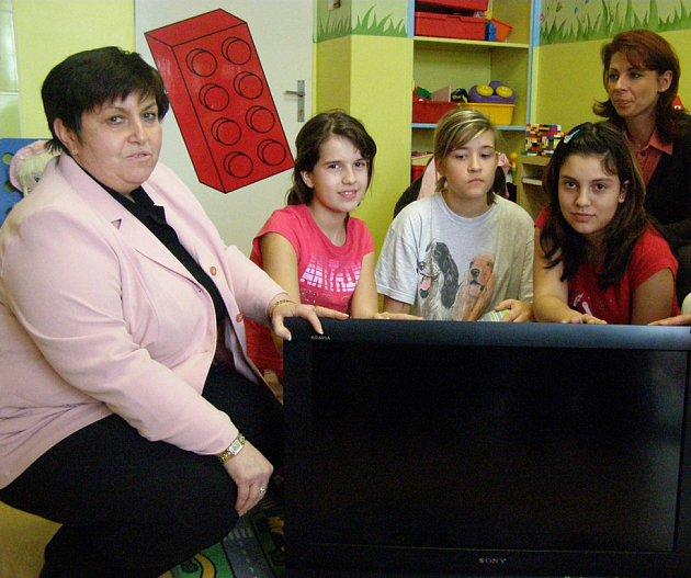 Televizor bude dětem k dispozici v nemocniční školce.