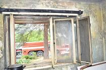 Úterní požár rodinného domu ve Cvrčovicích