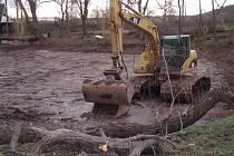 Rekonstrukce rybníku ve Slaném-Lotouši