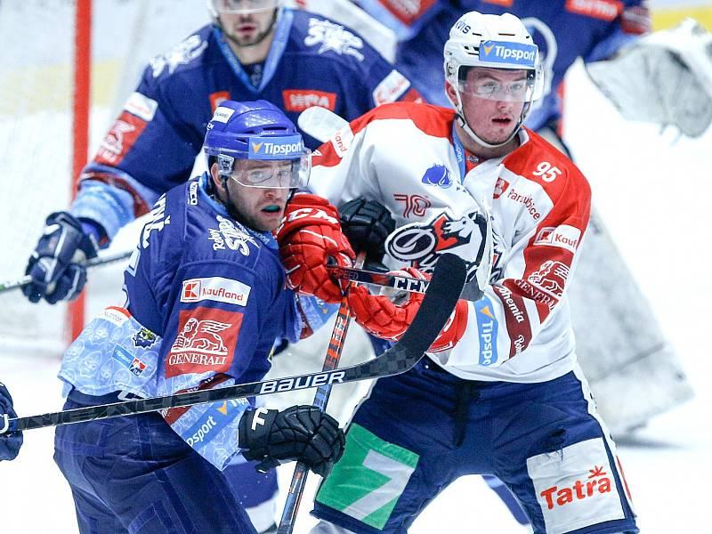 Pardubice - Kladno 3:4 PP, vlevo Patrik Machač