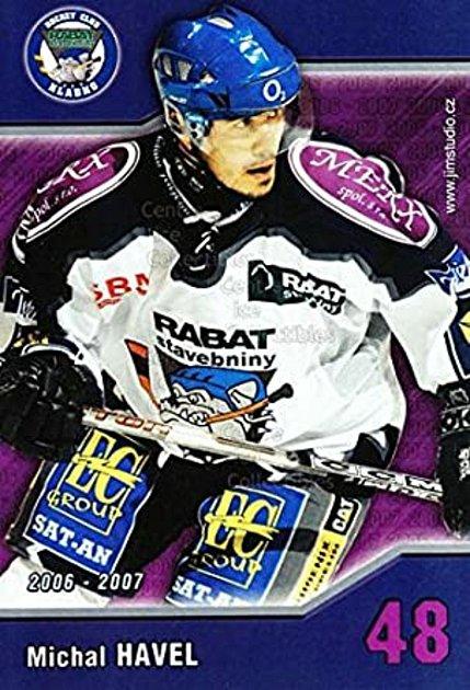 Bývalý hokejista Vimperku, Mělníku, Kladna, Sparty či Ústí nad Labem Michal Havel.