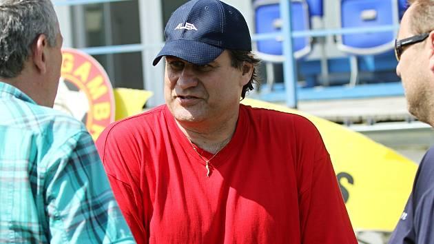 Daniel Drahokoupil hovoří po zápase s trenéry Vltavínu // SK Kladno - LOKO Vltavín a.s. 2:3, utkání 26.k. CFL. ligy 2011/12, hráno 5. 5. 2012