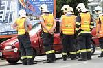Nehoda motocyklu ve Smečenské ulici v Kladně.