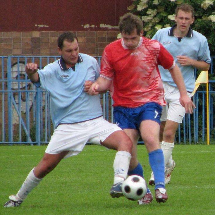 Slánský Josef Průcha (vlevo) zápas rozhodl.