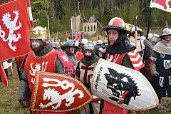Návštěvníci středověké libušínské bitvy zhlédli další část příběhu o Jindřichu ze Samopše.