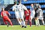 SK Kladno (v bílém) prohrálo v MOL Cupu s Ústí 1:2.