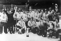 Oslavy Kladna po zisku titulu v roce 1977
