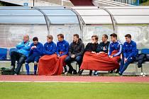 Fotbalová příprava: Kladno (v bílém) nečekaně vyhrálo na hřišti SK Slaný vysoko 7:1.