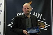 Otevření Síně slávy kladenského hokeje. Milan Skrbek