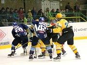Hokejový zápas mezi Ústím nad Labem a Vsetínem.