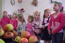 Patnáctý ročník výstavy Plody podzimu a soutěž O nejkrásnější jablko Kladenska ve čtvrtek zahájily svým vystoupením děti z mateřských škol v Kořenského a Lacinovy ulice v Kladně.