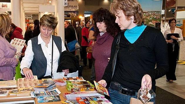 Stánek Slaného na veletrhu Regiontour 2010 v Brně.