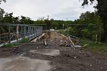 Oprava mostu v ulici O. Scheinpflugové ve Slaném.