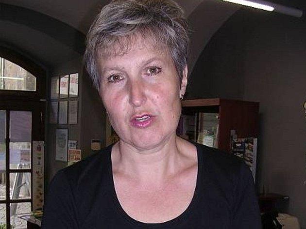 Zoja Kučerová, vedoucí Infocentra Slaný a knihovny Václava Štecha ve Slaném