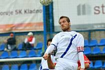 Kapitán Jan Procházka //  SK Kladno - Slovan Varnsdorf 1:0 (1:0) , utkání 10.k. 2. ligy 2010/11, hráno 3.10.2010