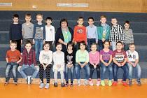 Žáci 1.A z 5. ZŠ Kladno pod vedením třídní učitelky Martiny Fořtové.