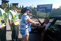 Každý řidič, jehož dechová zkouška byla negativní, obdržel drobné dárky.