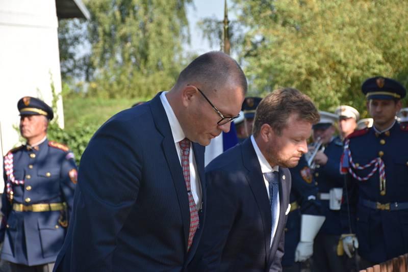 Z pokládání věnců na hrob T.G.M. 14. září 2021 v Lánech.