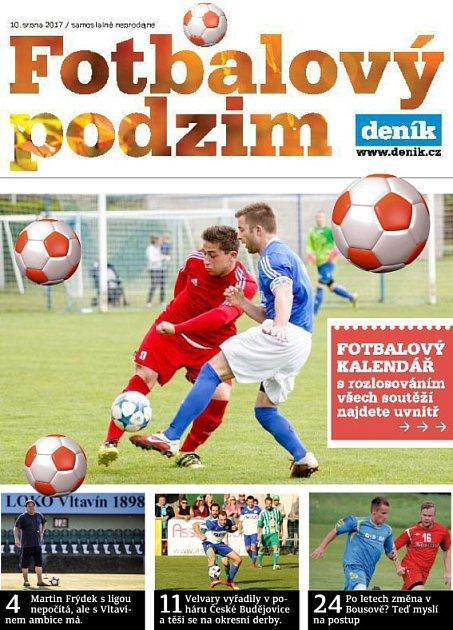 Příloha Fotbalový podzim 2017vyjde ve středočeských Denících ve čtvrtek 10.srpna.