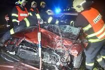 Tragická nehoda u Lidic ve čtvrtek 18. prosince 2014