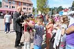 Ikaros fest se konal na libušínském náměstí. Na své si přišli malí i velcí.